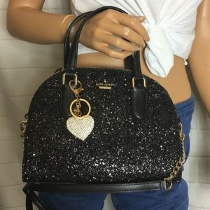 NWT Kate Spade Glitter domed Bag
